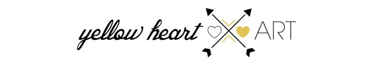 2013 yellow heart art blogspot header