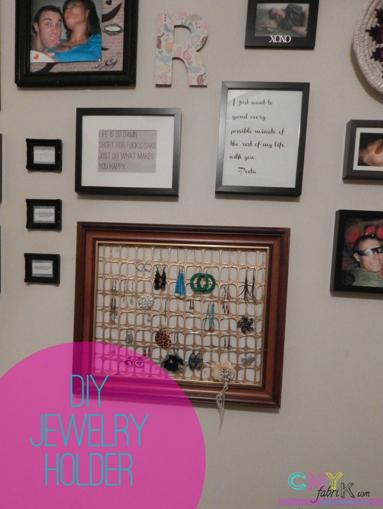diy jewelry holder tutorial
