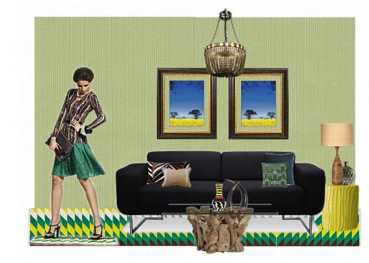 Duro Olowu inspired living room by CMYfabriK Interior Design