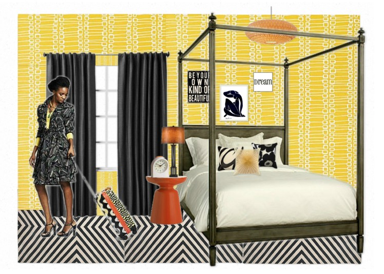 Duro Olowu inspired bedroom design by CMYfabriK Interior Design