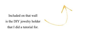 Jewelry holder w/arrow