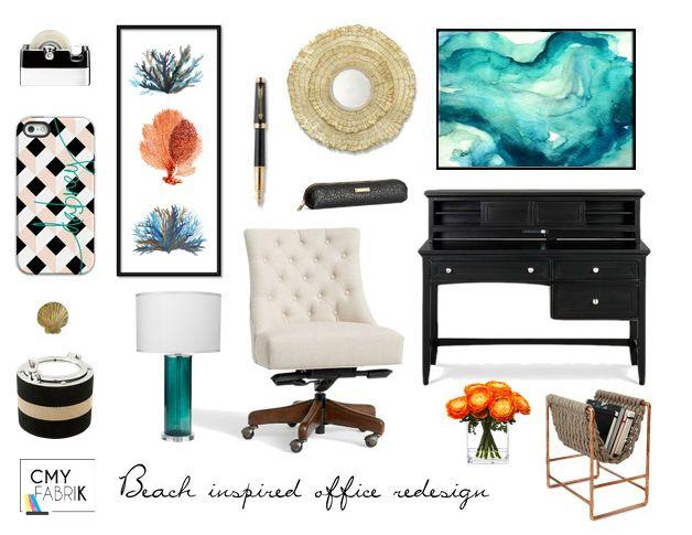 Beach inspired office by CMYfabriK Interior Design