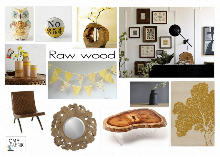 Trend: Raw wood board