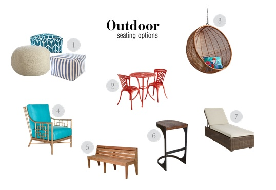 Outdoor seating options