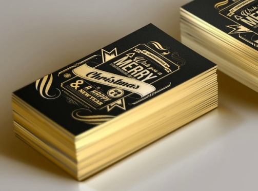 Black & Gold Christmas card by Rayz Ong & Lemongraphic