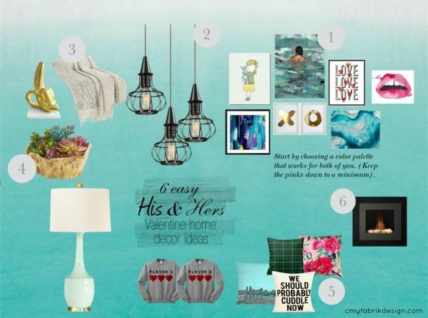 6 easy his & hers Valentine decor ideas