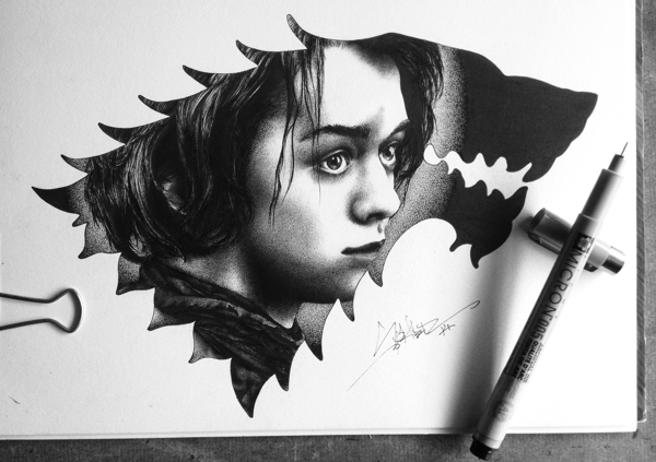 Arya Stark by Spider Money